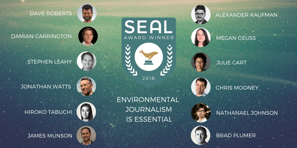 Environmental Journalism Award Winners 2018