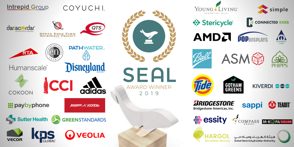 2019 SEAL Environmental Initiative Award Winners - part of the 2019 SEAL Business Sustainability Awards