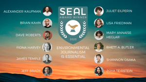 2020 Environmental Journalism Award Winners at SEAL Environmental Journalism Awards