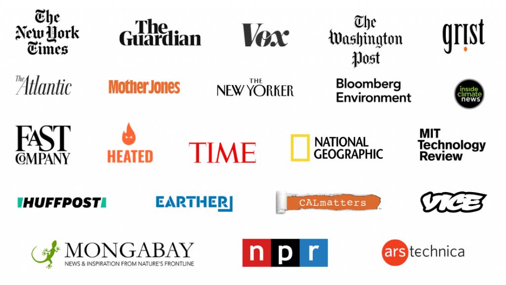 Environmental Journalism Awards - Past Winning Organizations